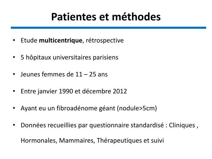 Patientes et méthodes