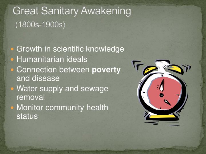 Great Sanitary Awakening