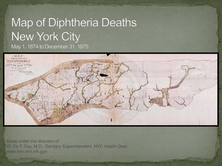 Map of Diphtheria Deaths