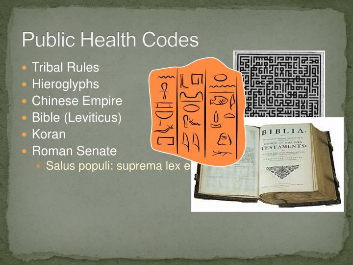 Public Health Codes