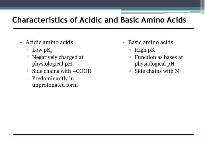 Basic amino acids