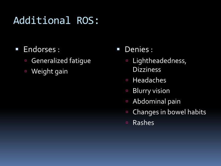 Additional ROS: