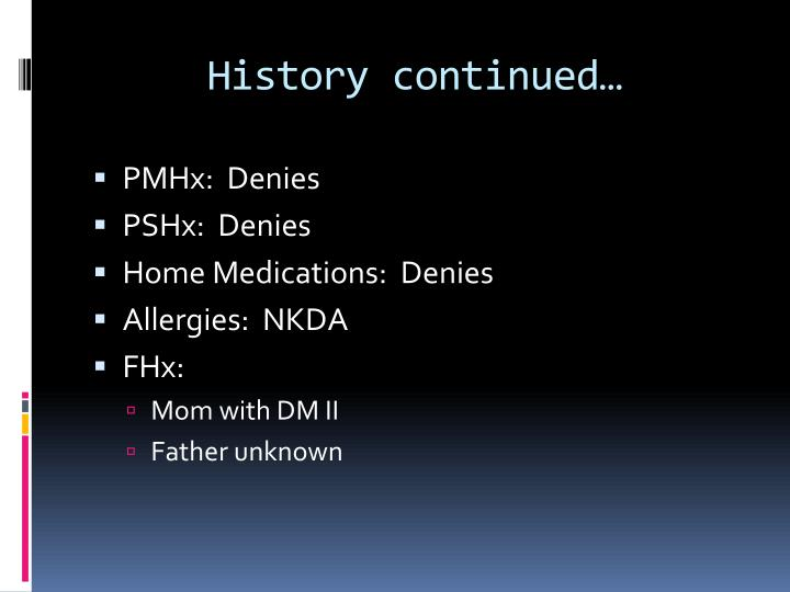 History continued…