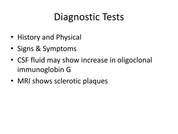 Diagnostic Tests