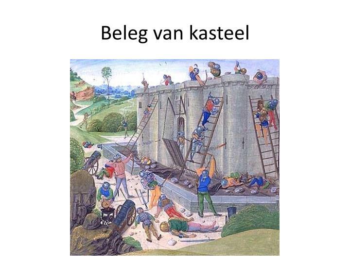 Beleg van kasteel