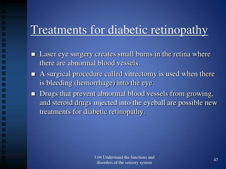 Treatments for diabetic retinopathy