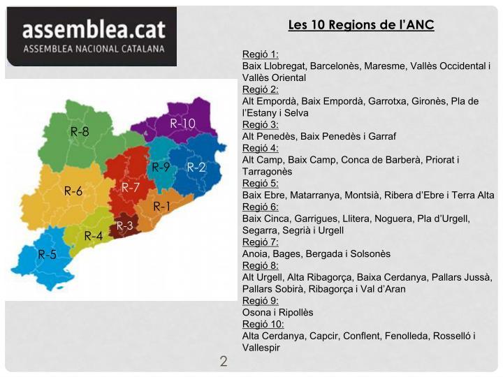 Les 10 Regions de l'ANC