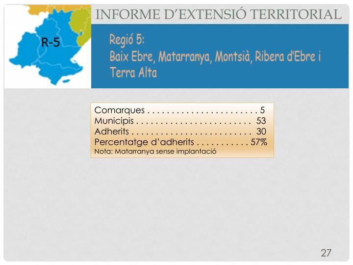 Informe d'extensió territorial