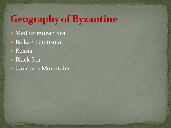 Geography of Byzantine