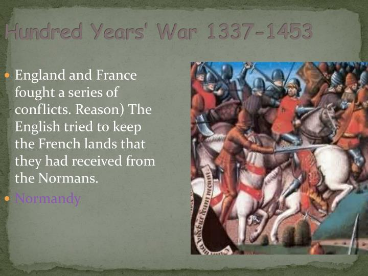 Hundred Years' War 1337-1453