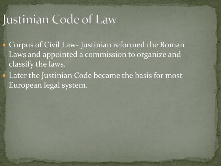 Justinian Code of Law