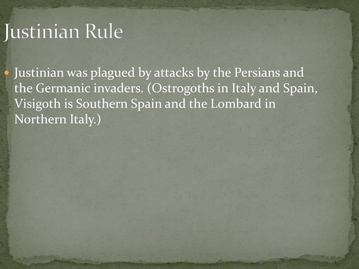 Justinian Rule