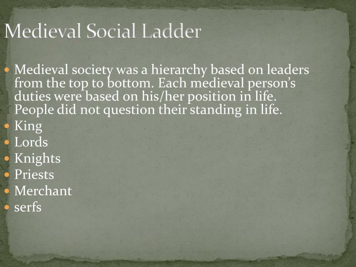 Medieval Social Ladder