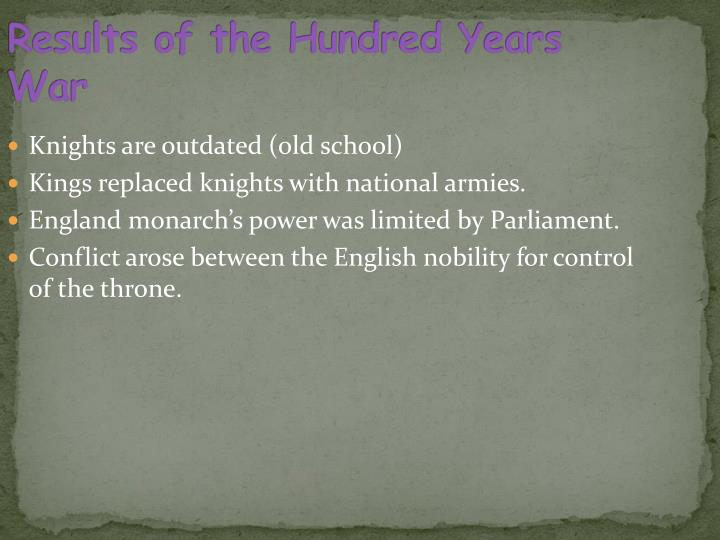 Results of the Hundred Years War