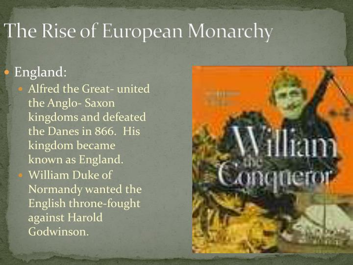The Rise of European Monarchy