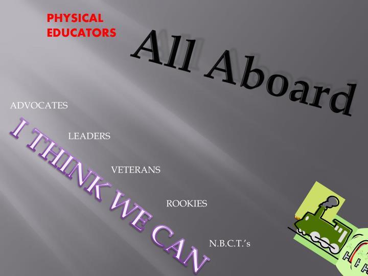 PHYSICAL EDUCATORS