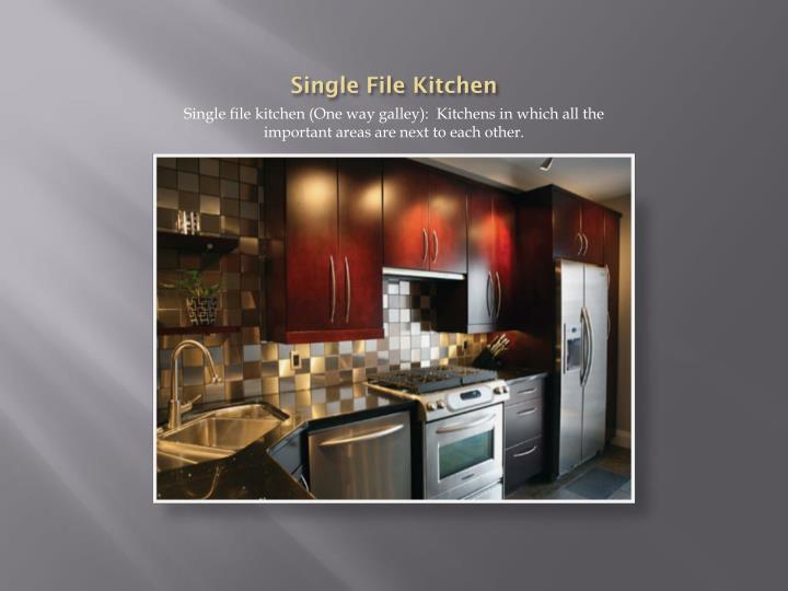 Single File Kitchen