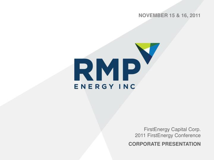 Firstenergy capital corp 2011 firstenergy conference