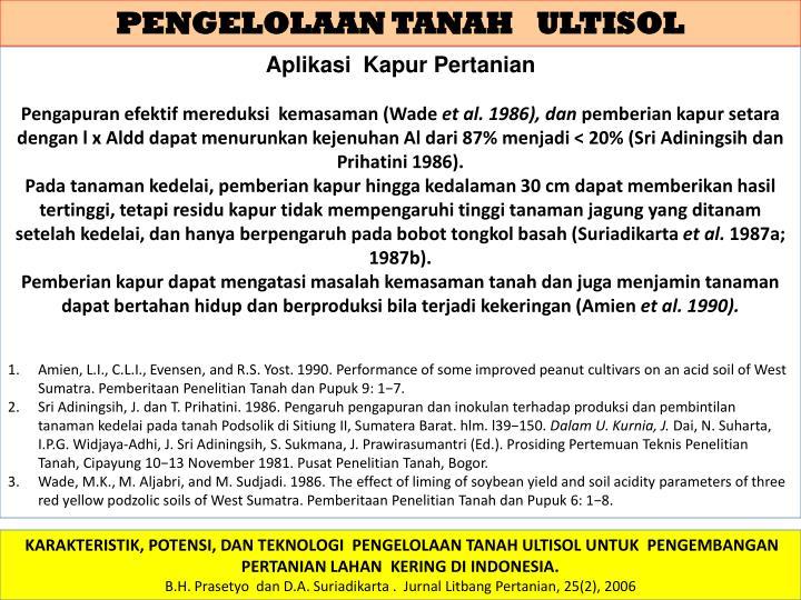 PENGELOLAAN TANAH   ULTISOL