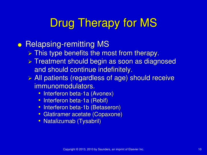 Drug Therapy for MS