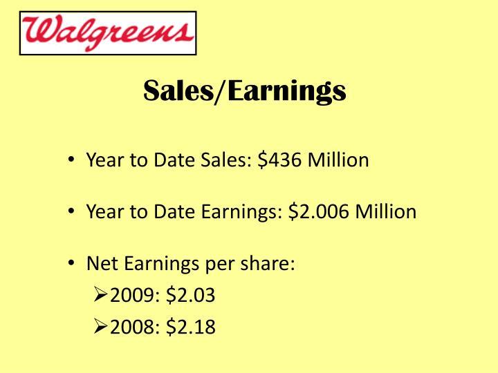 Sales/Earnings