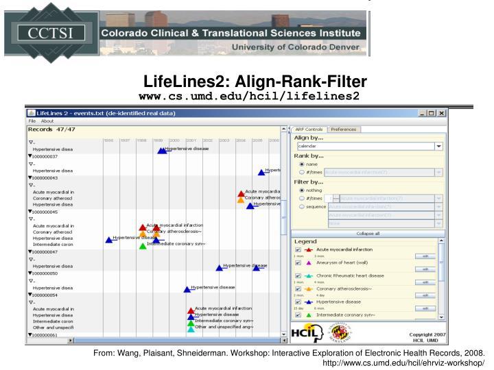 LifeLines2: Align-Rank-Filter
