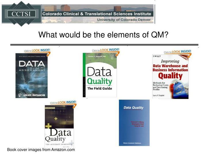 What would be the elements of QM?