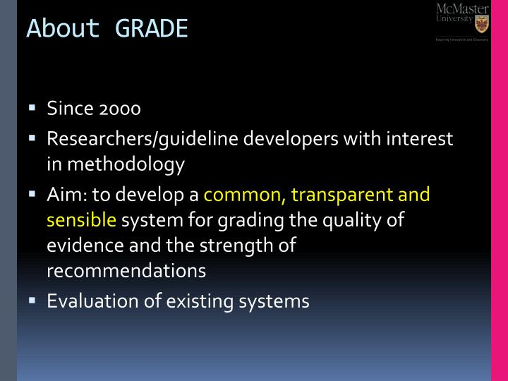 About GRADE