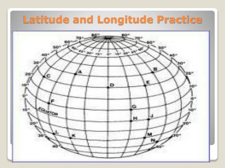 Latitude and Longitude Practice