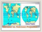 mercator vs robinson projection