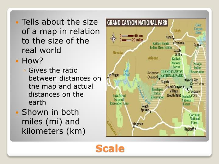 Tells about the size of a map in relation to the size of the real world