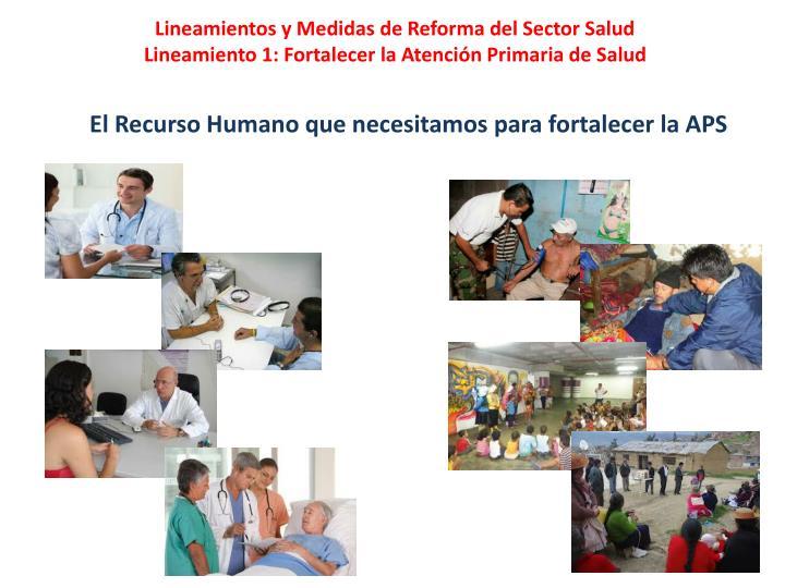Lineamientos y Medidas de Reforma del Sector Salud