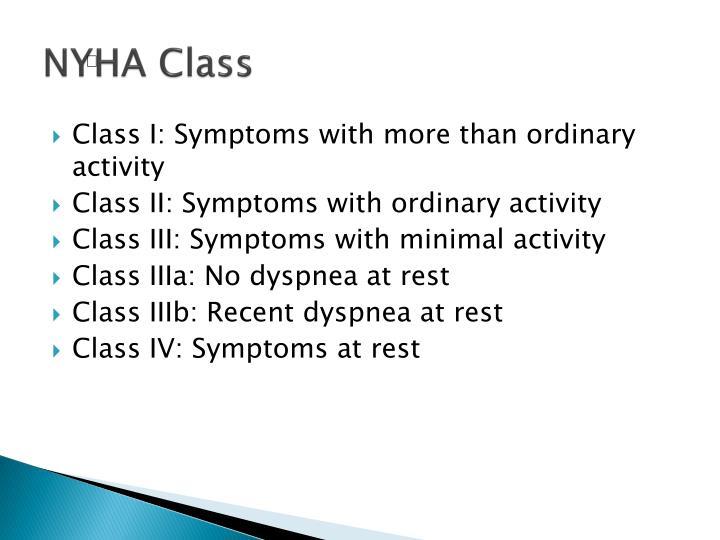 NYHA Class