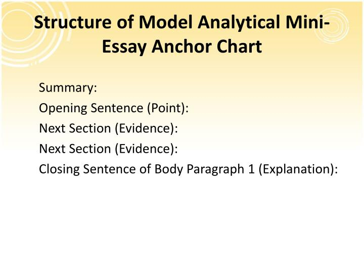"persuasive analysis essay structure Structure of a personal narrative essay ""narrative"" is a term more commonly known as ""story"" but also should include some reflection or analysis of the."