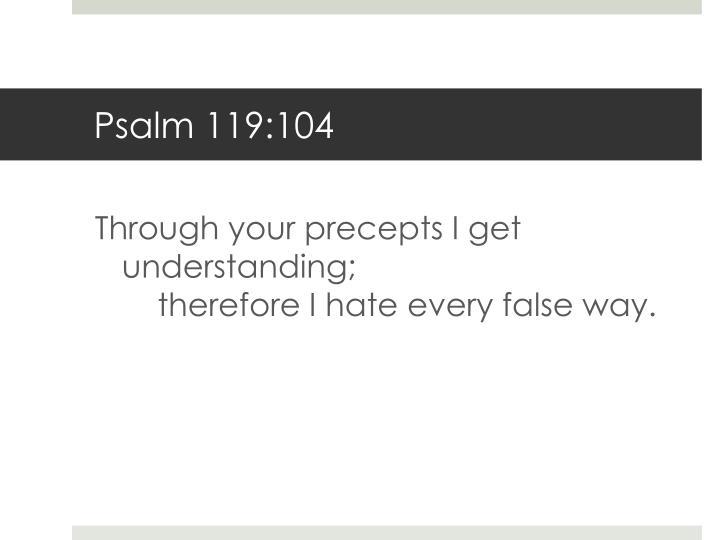 Psalm 119:104