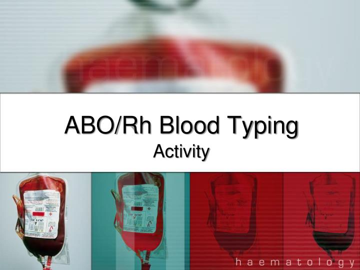 Abo rh blood typing