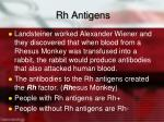 rh antigens