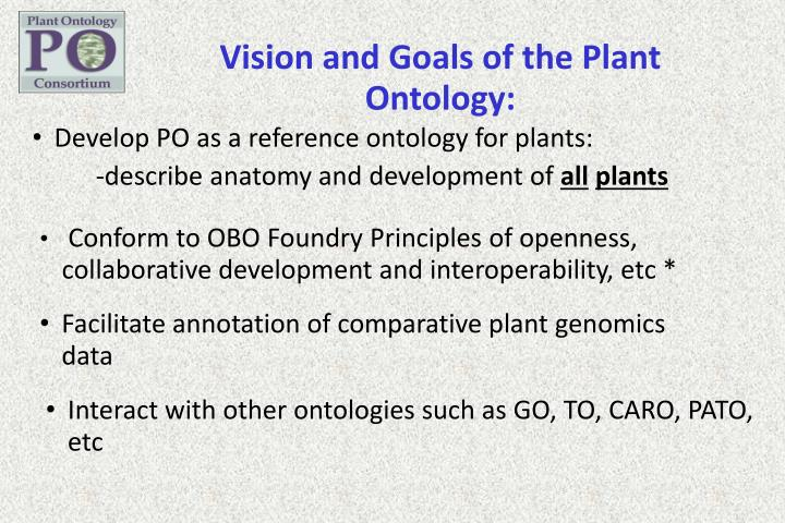 Vision and Goals of the Plant
