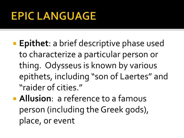 EPIC LANGUAGE