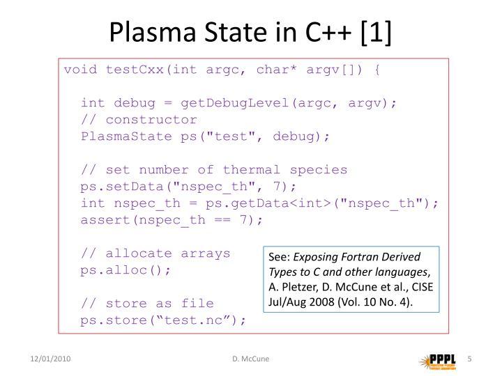 Plasma State in C++ [1]