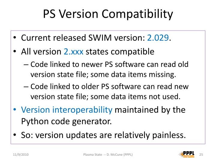PS Version Compatibility