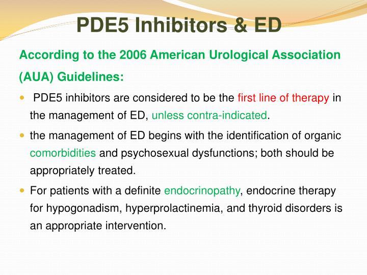 PDE5 Inhibitors & ED