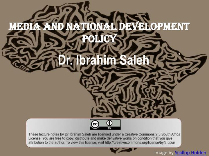 Media and National Development Policy