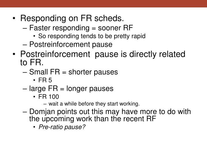 Responding on FR
