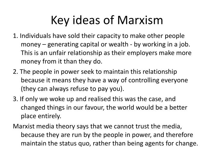 Key ideas of Marxism