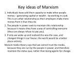 key ideas of marxism