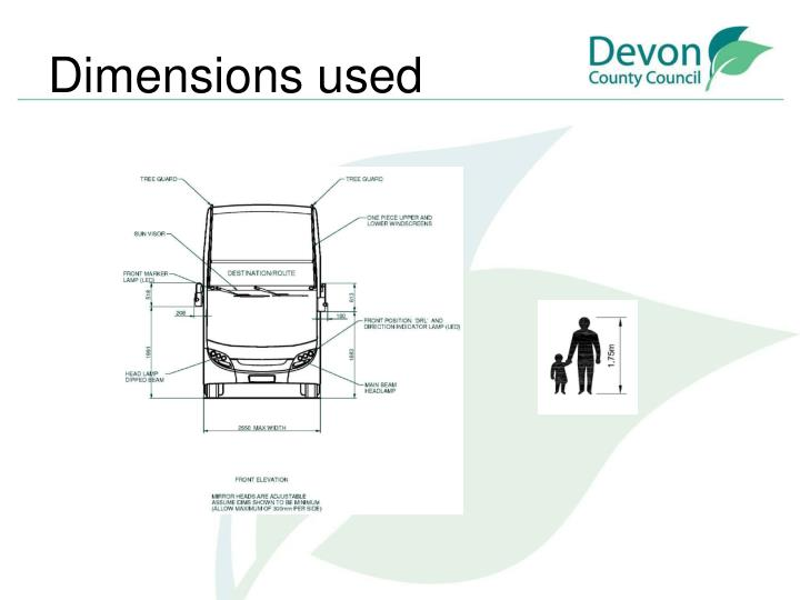 Dimensions used