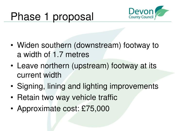Phase 1 proposal