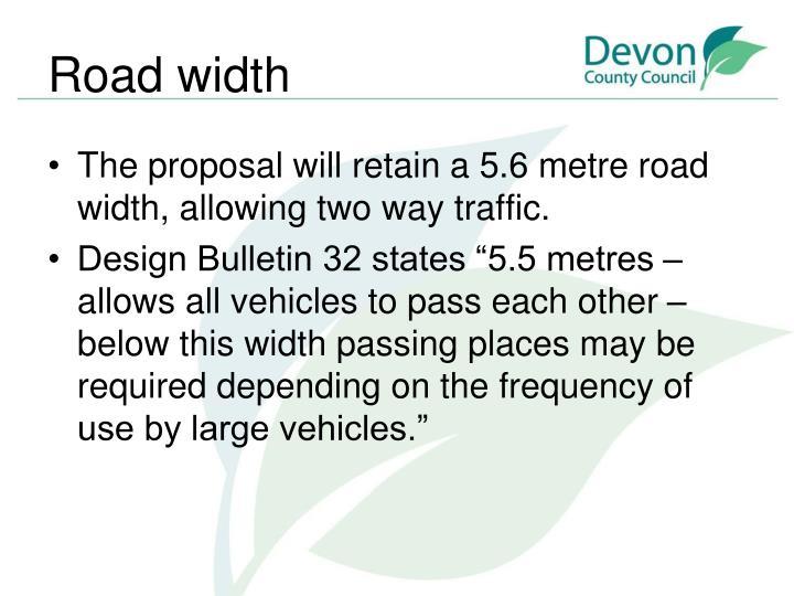 Road width