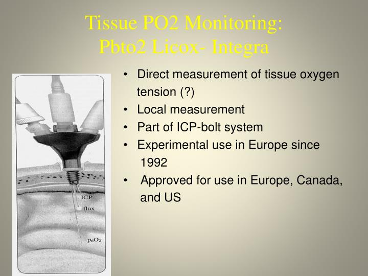 Tissue PO2 Monitoring: